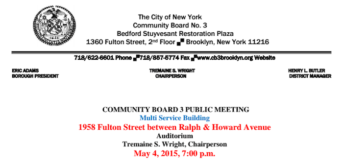 Community Board 3, Community Board 3 brooklyn, community board bed stuy