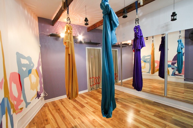 Locale, yoga classes, Locale bed stuy, hammocks
