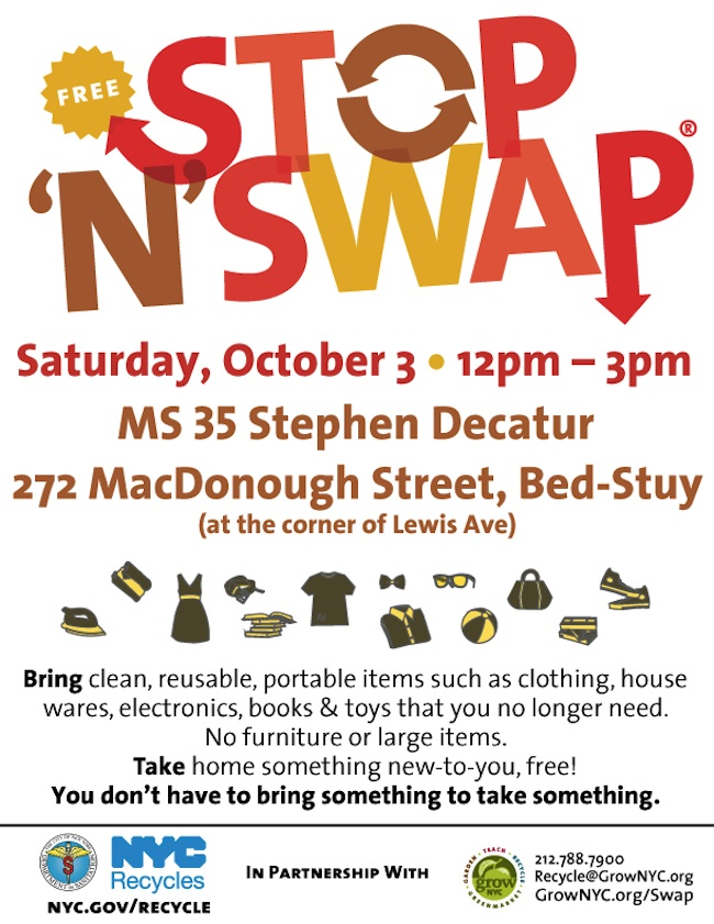 stop n swap, stop n swap bed stuy, grownyc