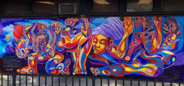 tompkins houses, groundswell, bed stuy, mural