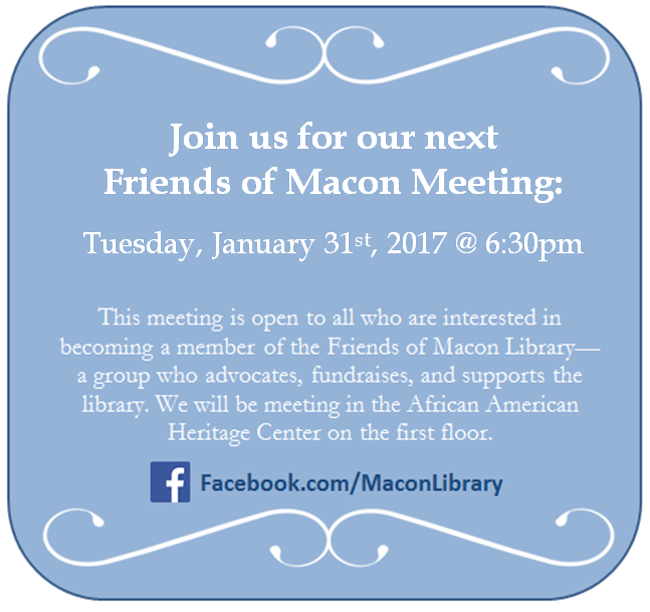 Macon Library, Macon Friends