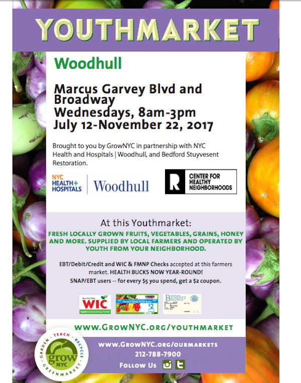 woodhull youthmarket, grownyc, bed stuy farmers market